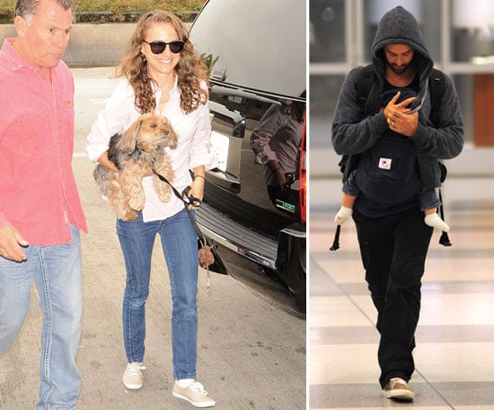 Natalie Portman Returns Home With Benjamin, Aleph, and Whiz
