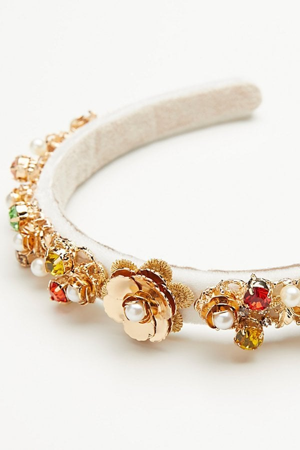 Jeweled Velvet Headband by Gen3 at Free People
