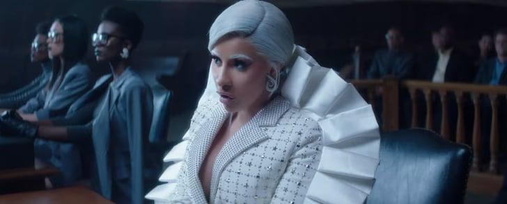 "Cardi B Eyebrows: Cardi B's White Eyebrows In ""Press"" Music Video"