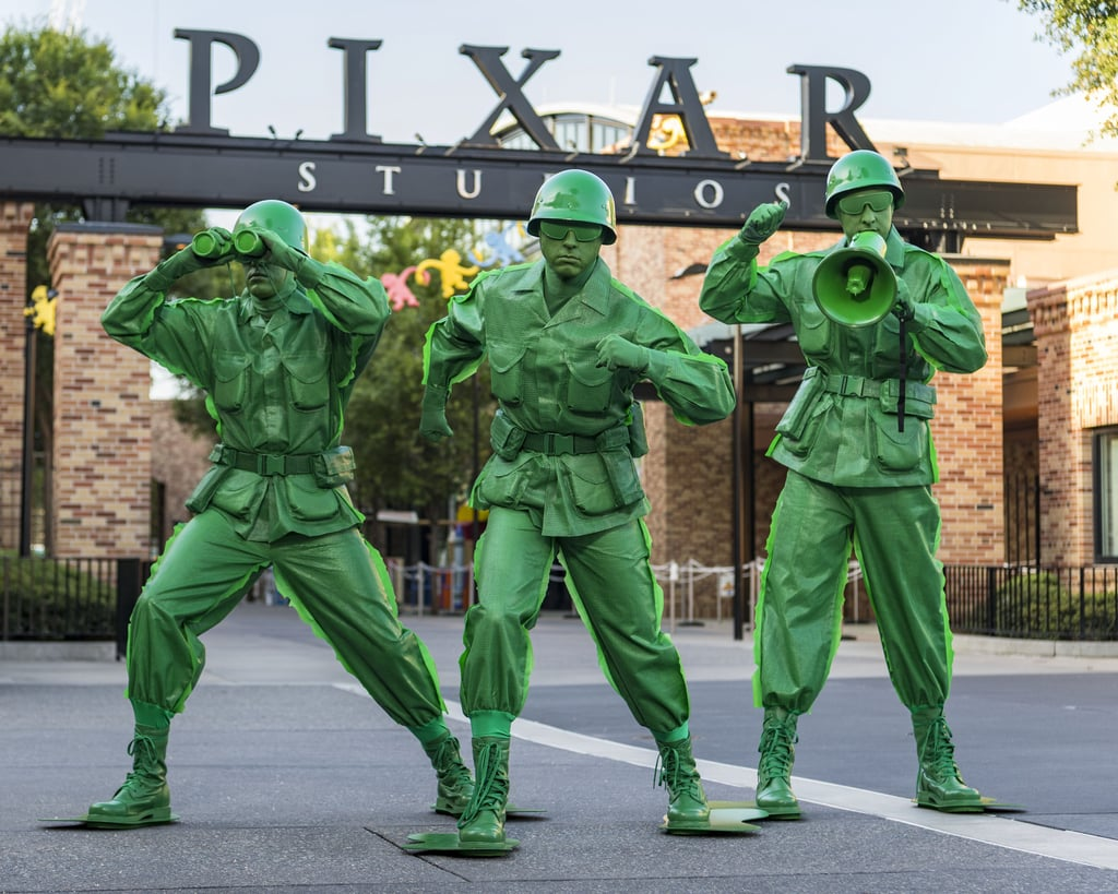Andy's green army men will make appearances throughout the park!
