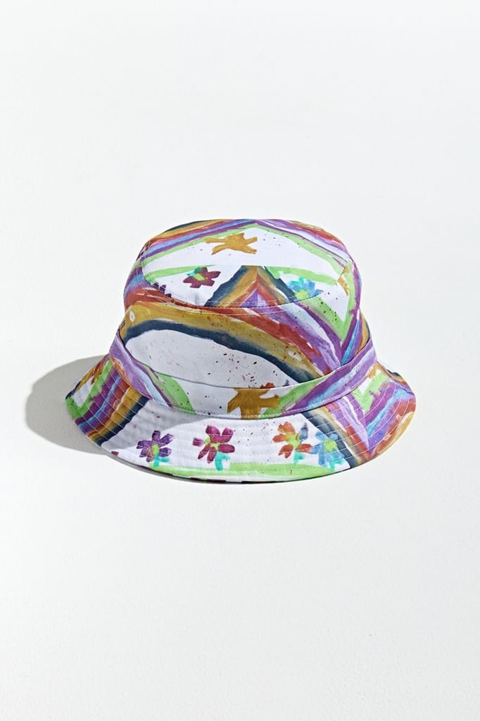 Urban Outfitters Painted Doodle Bucket Hat
