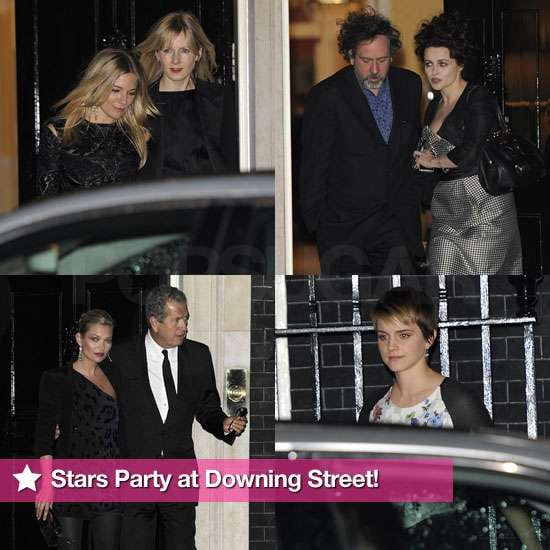 Pictures of Sienna Miller, Emma Watson, Kate Moss, Helena Bonham Carter at London Fashion Week 10 Downing Street Party