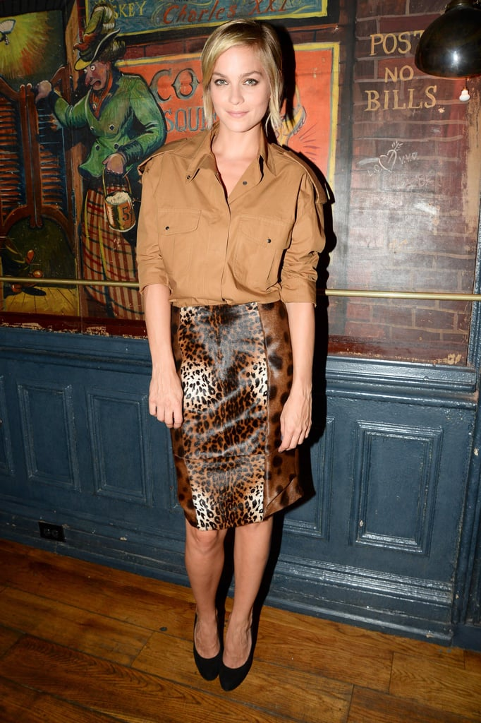 Leigh Lezark braved the New York heat in shades of brown at the Max Mara accessories campaign reveal.