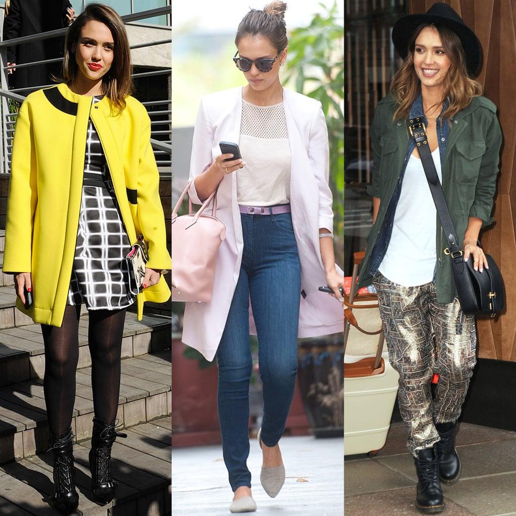 Jessica Alba Street Style 2014 Popsugar Fashion