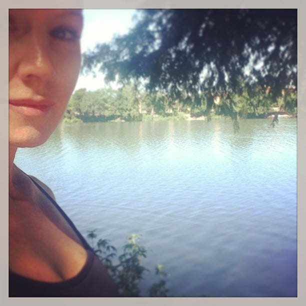Jennie Garth shared a photo of her peaceful river view. Source: Instagram user jenniegarth