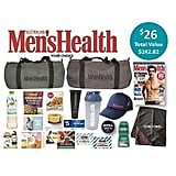 Men's Health Showbag ($26) Includes:  Barrel bag  Gym towel  Protein Shaker