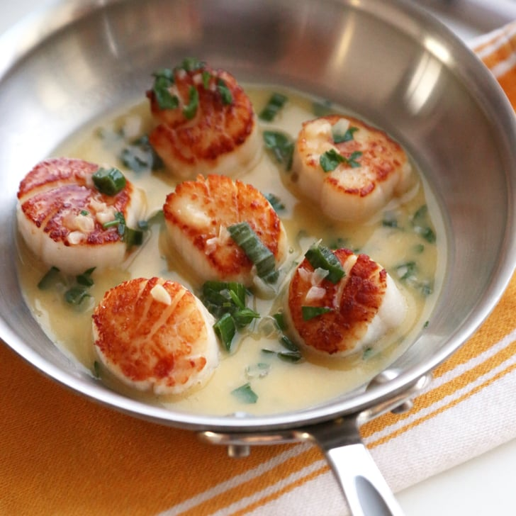 Seared Scallops In A White Wine Butter Sauce