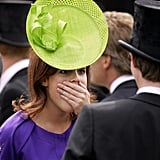 She is shocked by the latest royal gossip.