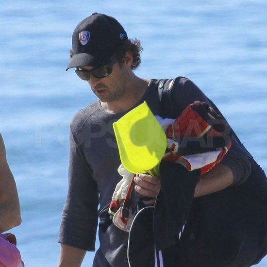 Patrick Dempsey carried all the beach toys.