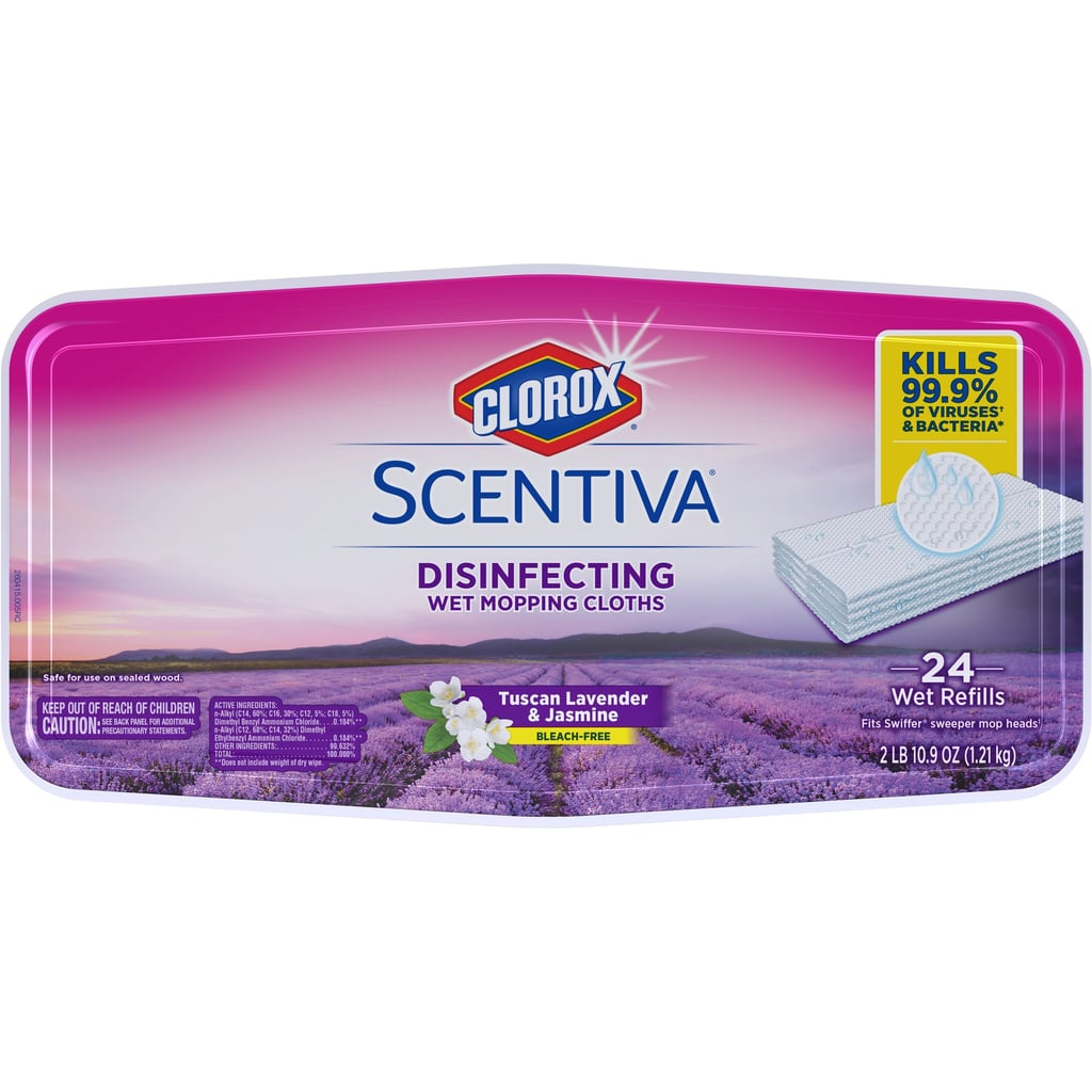 Clorox Scentiva Disinfecting Wet Mop Cloths in Tuscan Lavender and Jasmine