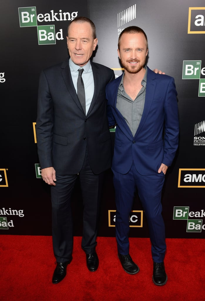 Breaking Bad stars Bryan Cranston and Aaron Paul walked the red carpet for the show's season five premiere during Comic-Con in 2012.