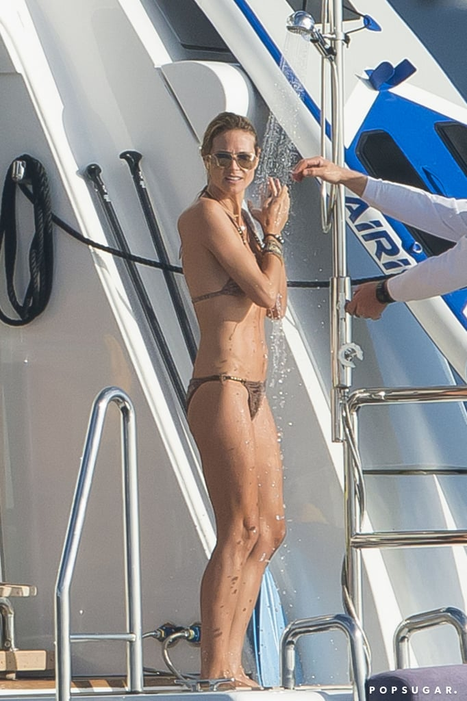Heidi Klum and Vito Schnabel Show PDA in St. Barts Pictures