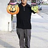 Dustin Hoffman showed off his Halloween purchases leaving a costume store in Brentwood on Wednesday.