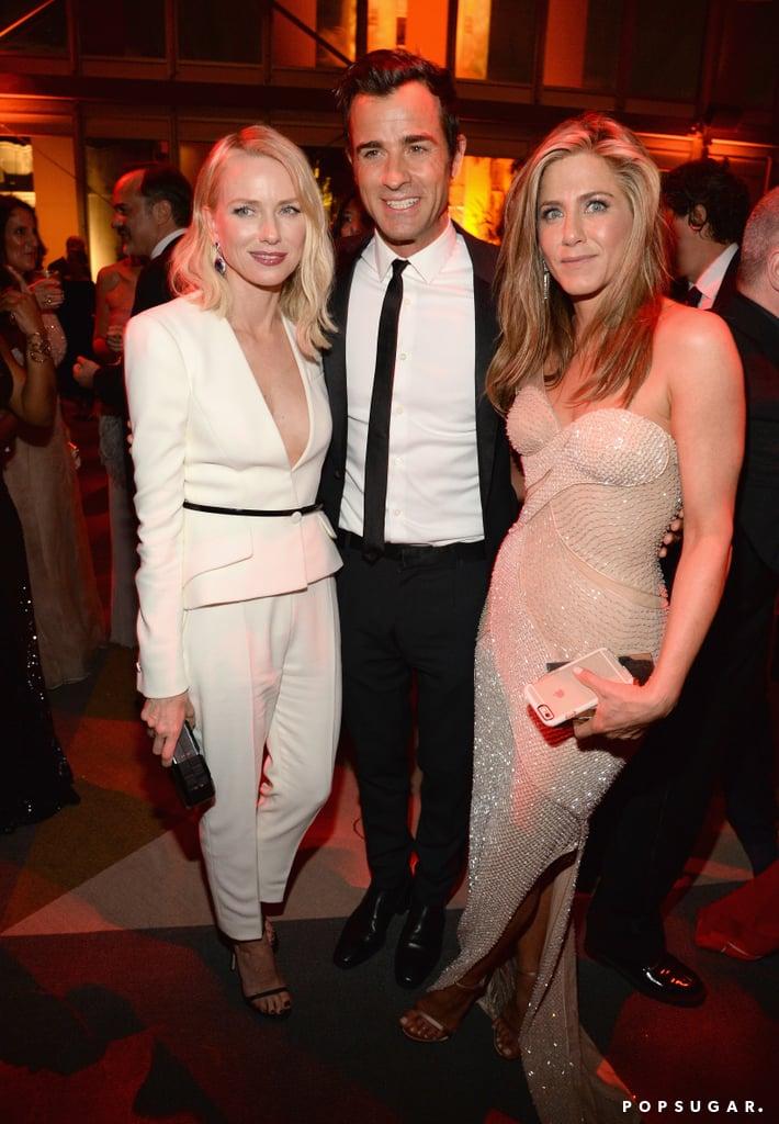 Naomi Watts, Justin Theroux, and Jennifer Aniston