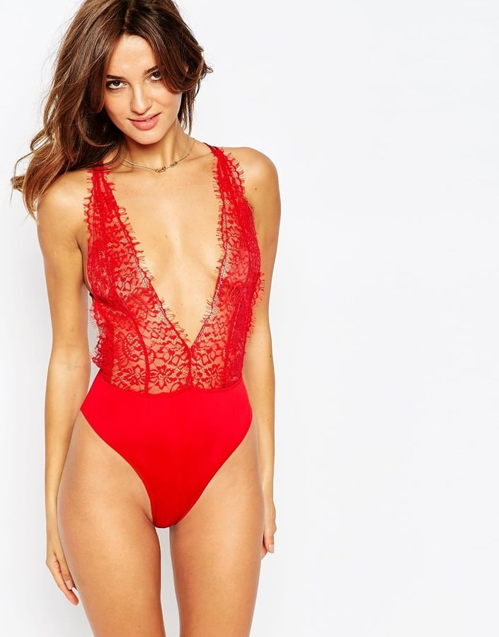 For Her: Lace Bodysuit