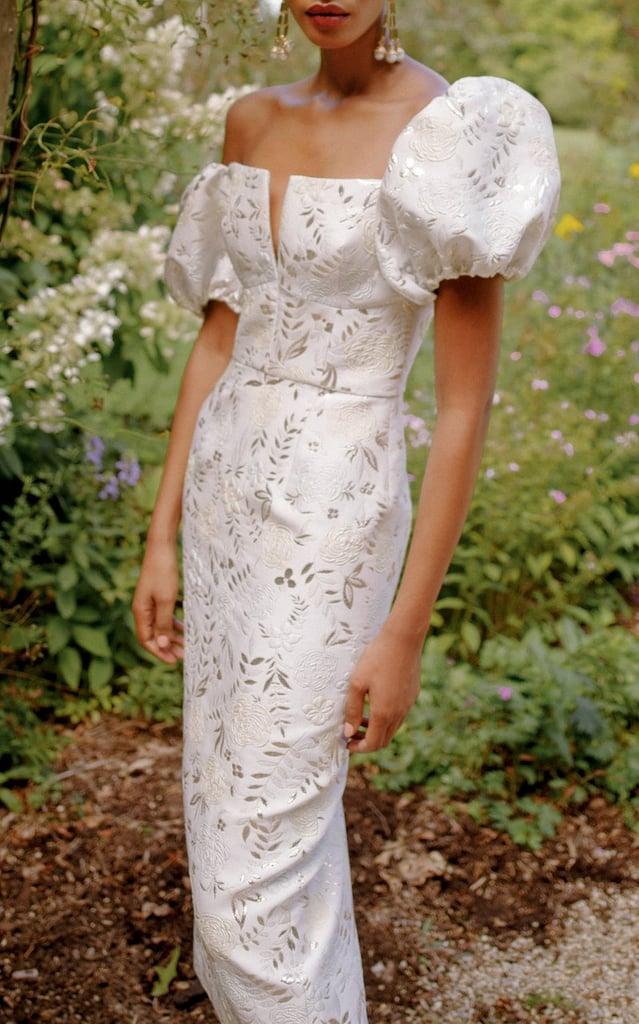 Markarian Yvette Off-The-Shoulder Jacquard Dress