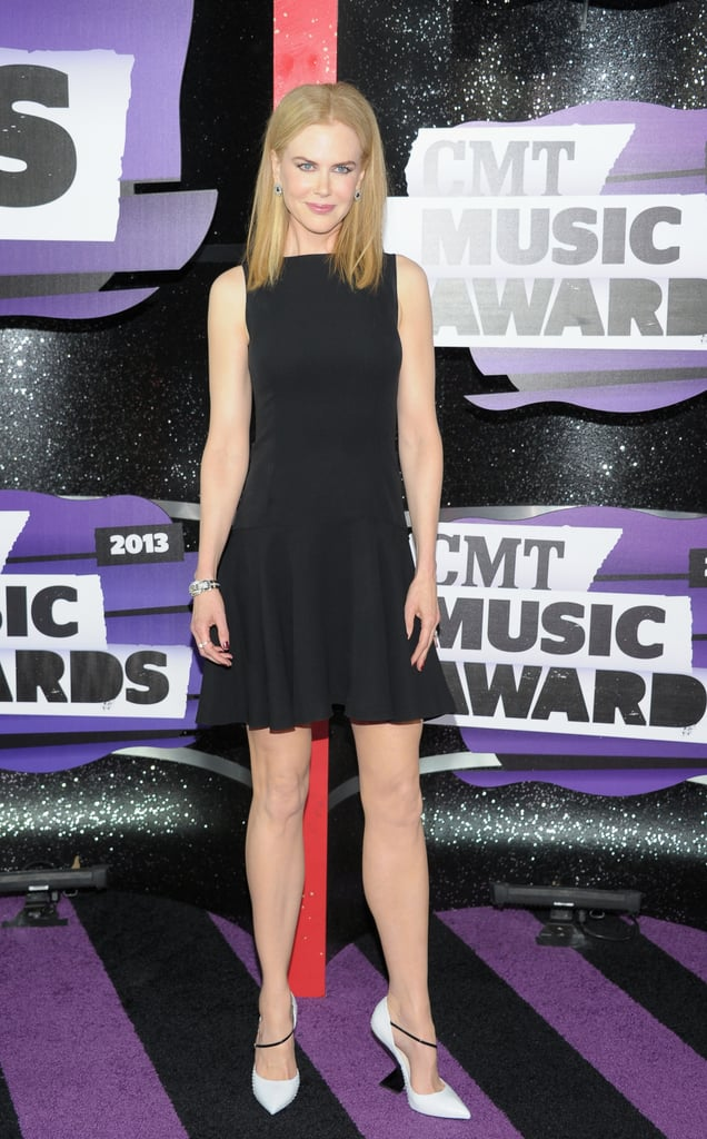 At this year's CMT Music Awards, Nicole Kidman went chic in a little black Dior dress, but it was her black and white pumps, also by Dior, that captured our attention.