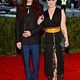 Next to her boyfriend, Matthew Mosshart, Kelly Osbourne donned a funky Marc Jacobs number, which included a yellow kimono belt.