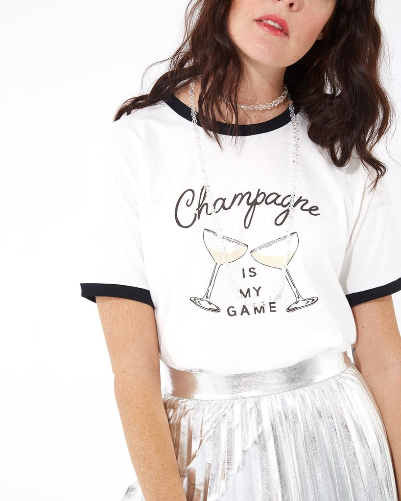 Champagne Is My Game Ringer Tee