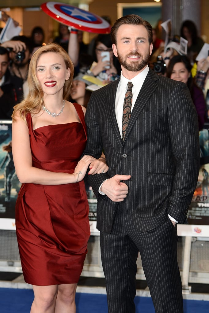 Scarlett Johansson at the Captain America UK Premiere