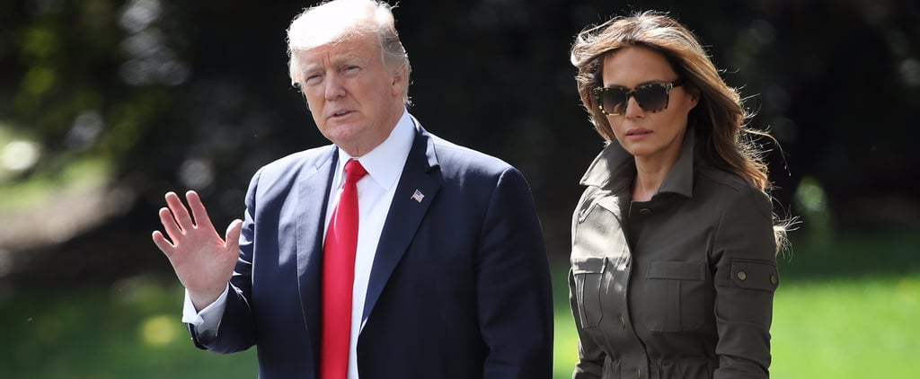 Melania Trump Put Her Jet-Set Look on Display in a Brand-New Military Jacket