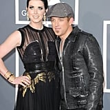 Husband and wife duo Shawna Thompson and Keifer Thompson of Thompson Square arrive at the Grammys.
