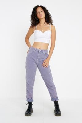 BDG Lilac Acid Wash Corduroy Mom Jeans