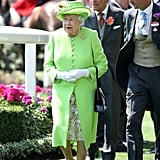 The Queen's Lime-Green Ensemble
