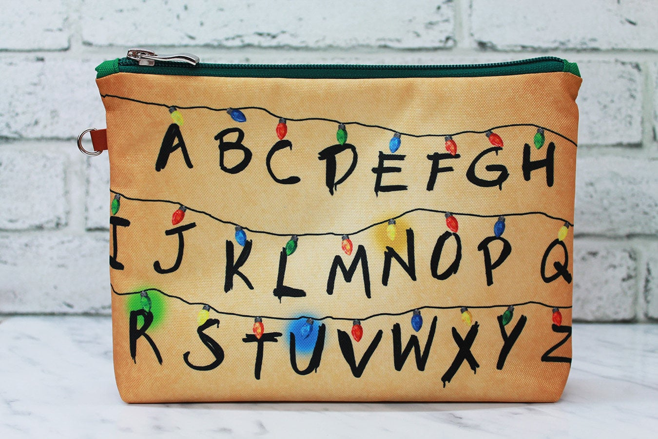 A Stranger Things Christmas.Stranger Things Christmas Lights Cosmetic Bag You Need Not