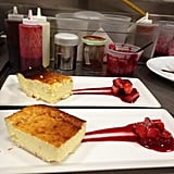 Wolfgang Puck celebrated Easter Sunday with ricotta pie and fresh strawberry marmalade. Yum! Source: Twitter user WolfgangBuzz