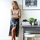 A Striped Shirt and a Fringed Leather Skirt
