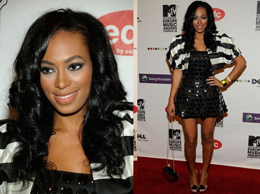 Solange Knowles in Monochrome at the 2008 MTV Europe Music Awards