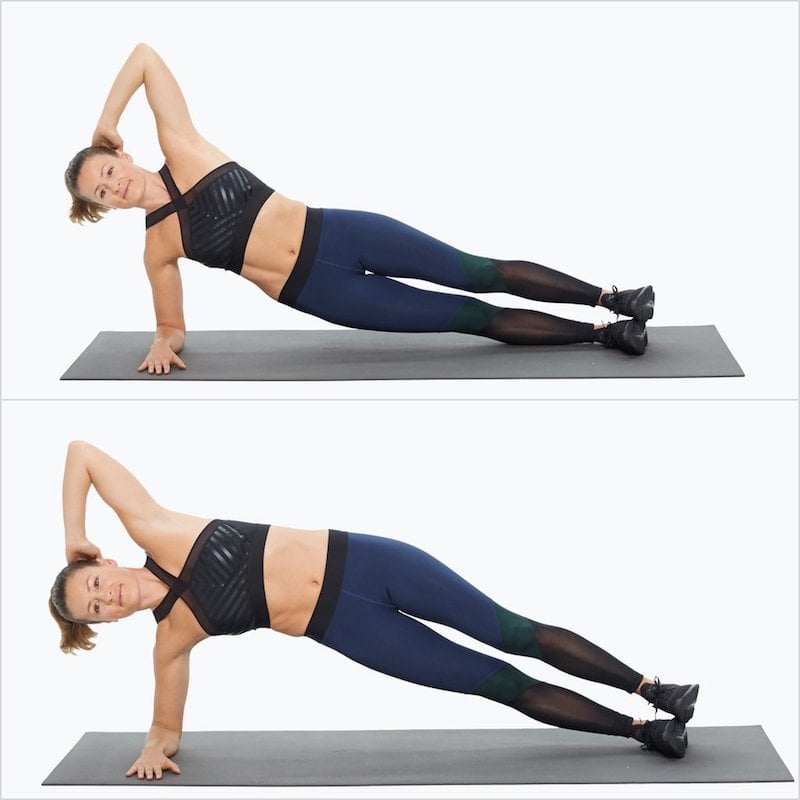 Side Elbow Plank With Pulse
