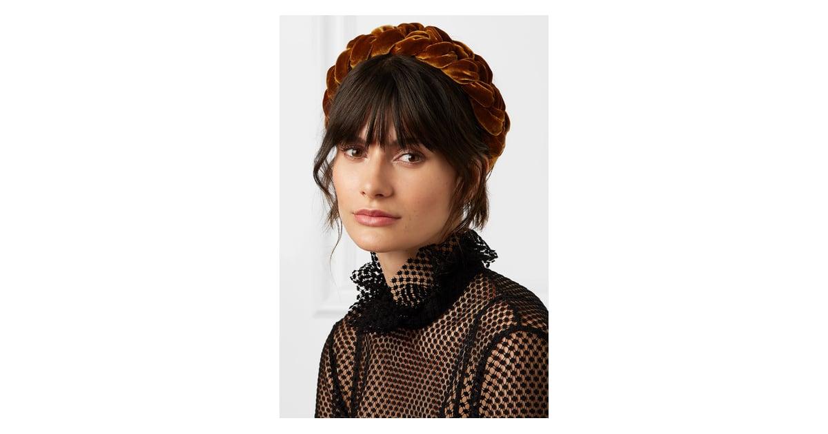 Jennifer Behr Braided Velvet Headband  8fc24c99cf2