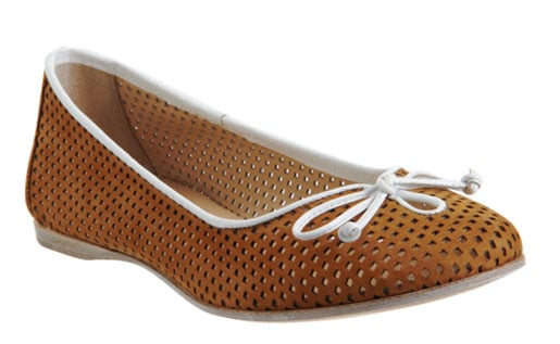 Tired of your solid-hued nine-to-five flats? A perforated detail adds quirk and provides built-in ventilation. Fendi Perforated Ballerina Flat ($189)