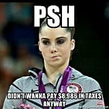 McKayla Maroney tries to justify her silver medal. Are you impressed?  Source: Meme Generator
