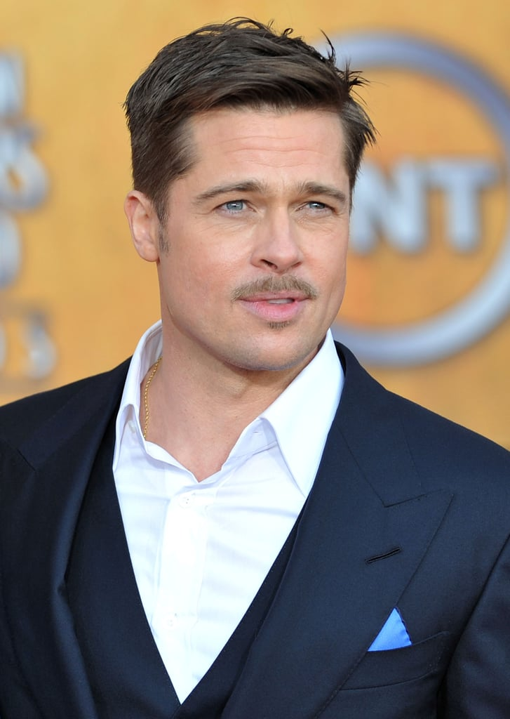 It wasn't exactly Movember — it was January 2009 to be exact — but Brad nailed the manicured mustache look at the SAG Awards in LA.