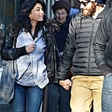 Jake Gyllenhaal held hands with a female friend in NYC.