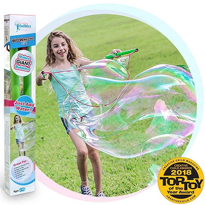 For 6-Year-Olds: WOWmazing Giant Bubbles Kit Plus