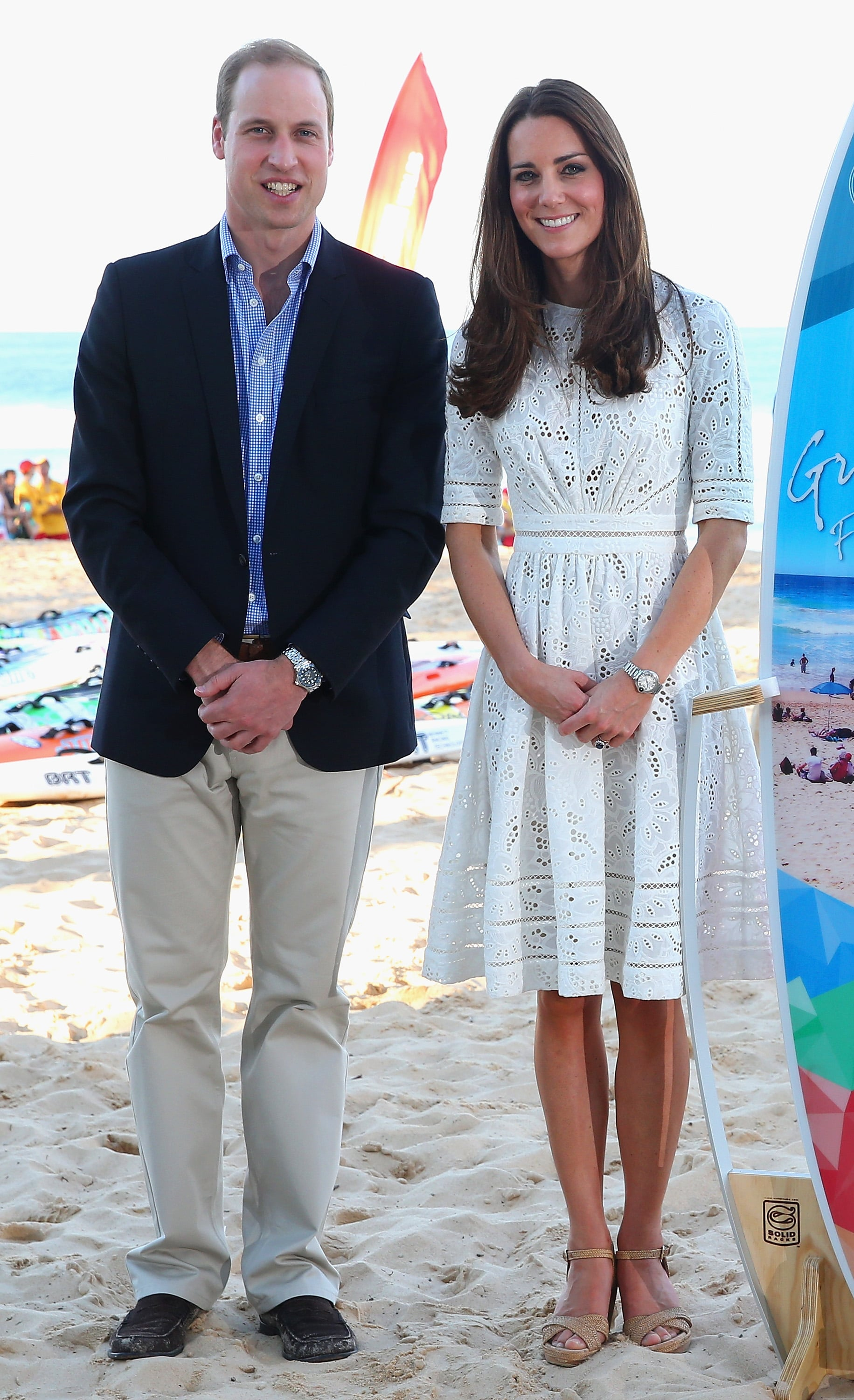 The Royal Couple at Manly Beach