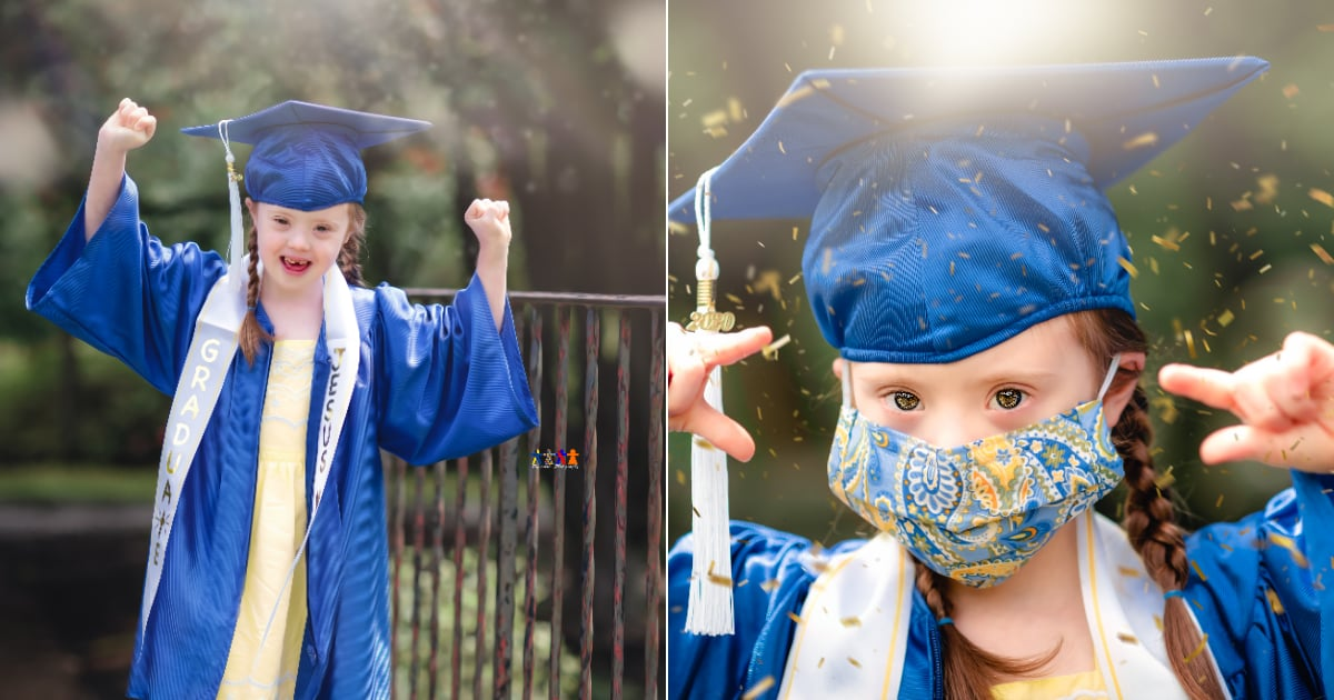 A Mom Staged a Gorgeous Graduation Shoot For Her 6-Year-Old Daughter, and Her Smile Says It All!