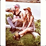 Audrina Patridge and longtime boyfriend Corey Bohan people-watched on the Coachella grounds.  Source: Instagram user audrinapatridge