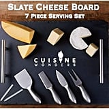 Slate Cheese Board Seven-Piece Serving Tray Set