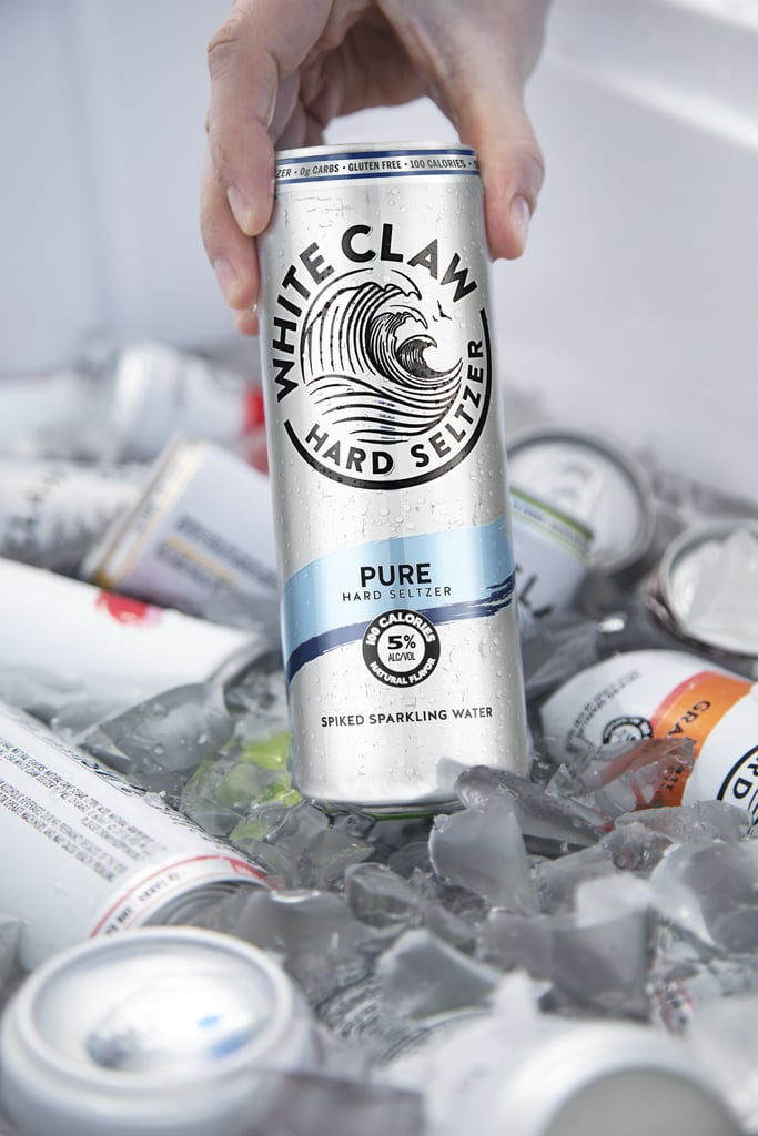 It is a photo of Astounding White Claw Hard Seltzer Label