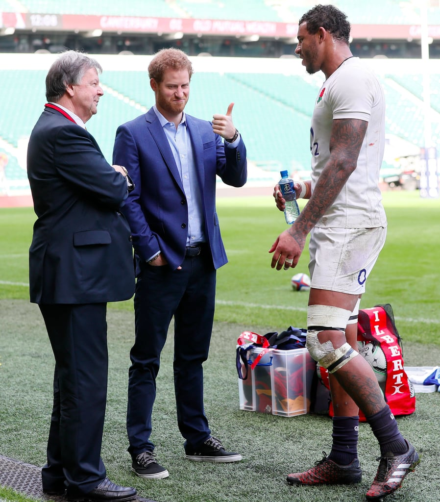 Prince Harry With English Rugby Team February 2017