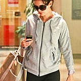 Katie Holmes Fits In a Workout in Wet LA