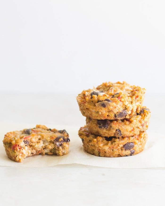 Kid-Friendly Southwestern Oat Muffins