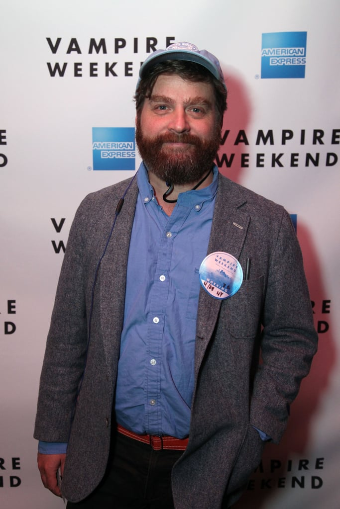 Zach Galifianakis attended Vampire Weekend's performance at the festival.