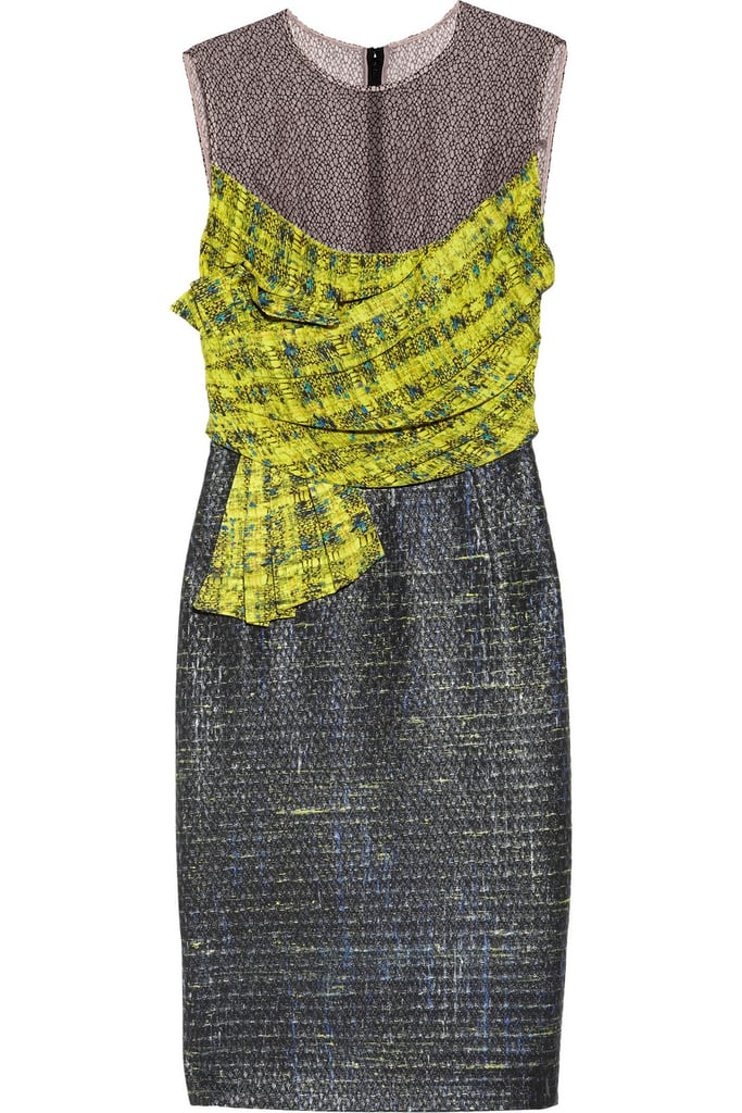 Courtney Voile and Tweed Dress ($875, originally $2,920)