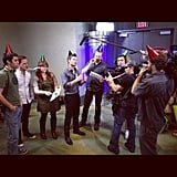 Ryan Seacrest and his staff enjoyed a happy Friday. Source: Instagram user ryanseacrest